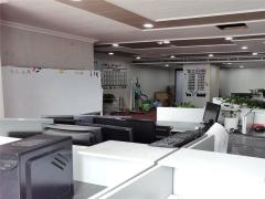 青岛市北CBD精装全套家具 带隔断地铁口电梯口高区南向写字楼