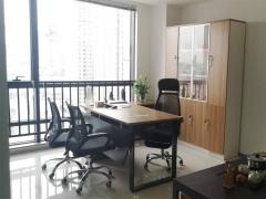 市北诺德广场 112平精装带家具办公室 临地铁采光好